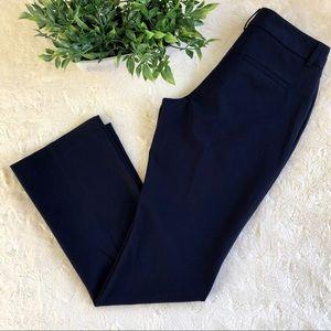 Express editor navy blue straight leg pants 6